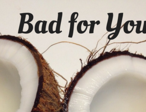 Coconut oil is bad for you?